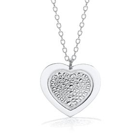 "J-Jaz Heart Pendant with 18"" Necklace"